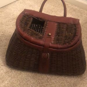 Vintage Creel Fishing Basket
